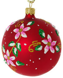 bloom glass ornament matte traditional