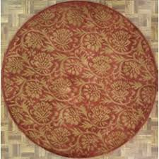 4x4 Area Rugs Handmade Circular Area Rug 4x4 In Terracotta With Circular Swirl