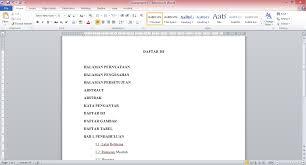 cara membuat daftar gambar word cara mudah membuat daftar isi titik otomatis di ms word zetmagazine