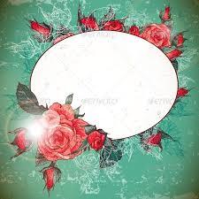 romantic vintage rose frame