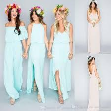 flowy bridesmaid dresses 2017 summer bohemian bridesmaid dresses mixed country boho