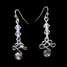 clear earrings billings designs squiggles spirals earrings clear