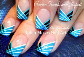 robin moses nail art striped chevron tipped nail art