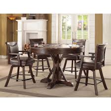 pubga e eci furniture gettysburg rustic 2 in 1 round pub game table home
