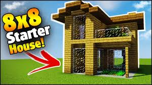 minecraft 8x8 starter house tutorial how to build a house in