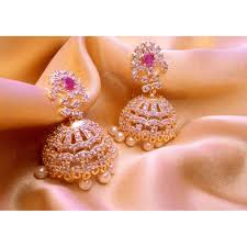 jhumka earrings diamond jhumka earrings