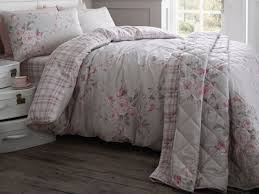 catherine lansfield canterbury red cream polka dot duvet bedding set