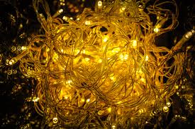 up of yellow lights free stock photo