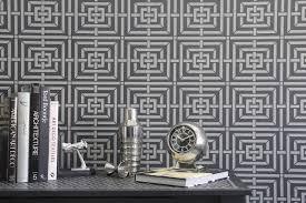 geometric wall stencil mykonos trellis royal design studio