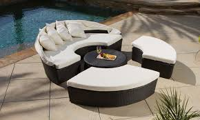 Noble House Outdoor Furniture by Bellagio 4 Piece Cabana Outdoor Sectional Set Groupon