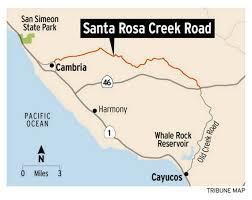 Cambria Map Go For A Drive Along Santa Rosa Creek Road In Cambria The Tribune