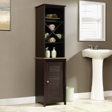 Bathroom Linen Shelves Furniture White Bathroom Towel Cabinet Linen Pantry Cabinet