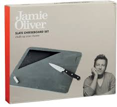 jamie oliver chalk and cheese slate board set with knife
