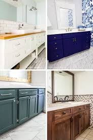 how to paint existing bathroom cabinets diy bathroom vanity ideas