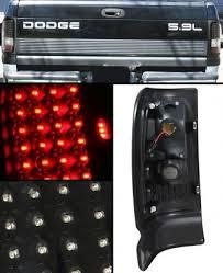 dodge ram led tail lights dodge ram 2500 1994 2002 black led tail lights a103tibh109