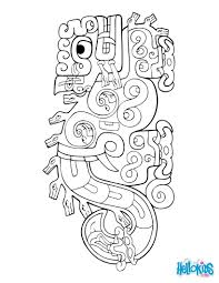 jaguar serpent coloring pages hellokids com