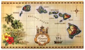 Hawaiian Doormats Amazon Com Islands Of Hawaii Vintage Map Heavyweight Doormat