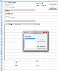 Excel Invoice Template 2010 Populate Listbox With Unique Invoice Numbers Vba