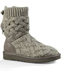 ugg boots at dillards ugg isla knit bow detail slip on boots dillards