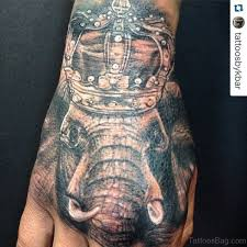25 unique elephant tattoos on hand