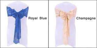 Royal Blue Chair Sashes Factory Wholesale 100 Polyester Vintage Cheap Tulle Lace Cloth