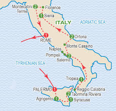 Palermo Italy Map by The Italian Campaign November 2018 Craig Travel