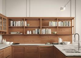 modern kitchen features while snaidero heritage kitchen features open shelving above the