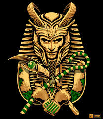 various icons re imagined as king tut on behance