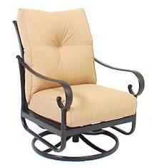 alu mont santa barbara swivel rocking lounge chair heather beige