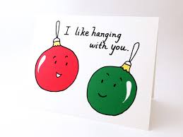 cute best friend christmas card punny holiday love card