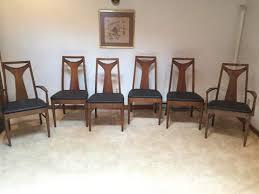 Modern Walnut Dining Chairs Vintage Mid Century Kent Coffey Perspecta T Back Walnut Dining