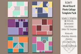 8 5x11 mood board photo templates magazine templates creative
