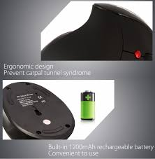 hxsj x10 6d wireless gaming ergonomic design optical vertical