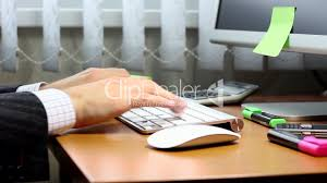 Office Desk Close Up Office Work On A Computer Royalty Free Video And Stock Footage