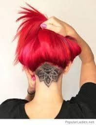 redhair nape shave cool undercut design hair pinterest undercut designs