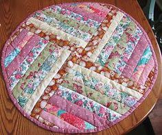 quilted placemats for round tables country threads rotary cut and pieced quilt patterns circle of