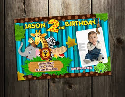 Jungle Birthday Card Jungle Baby Shower Invitation Birthday Party Digital File