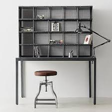threshold windham desk with hutch in black