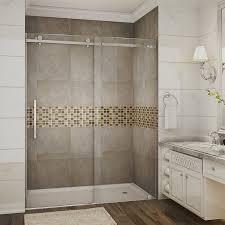 Dreamline Infinity Shower Door by Infinity Z 74 75 X 48 Sliding Frameless Shower Door Wayfair