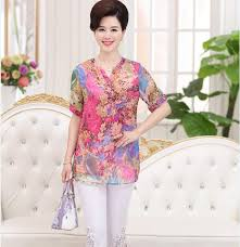 plus size silk blouse 2017 summer silk chiffon shirt plus size floral printed