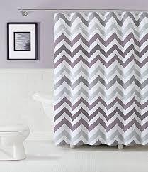 Purple And Gray Bathroom - best purple chevron shower curtain