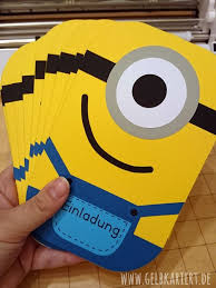 diy minion invitations einladungskarten für den kindergeburtstag birthdays cards and