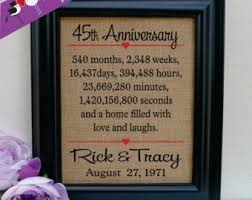 45th wedding anniversary gift framed 45th anniversary 45th wedding anniversary gift 45th
