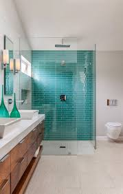 turquoise tile bathroom christine sheldon design turquoise blue subway tile and house