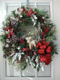 front door wreath after christmas decoration winter wreath