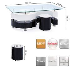 Wohnzimmertisch Niedrig Links 50100015 Couchtisch Glastisch Wohnzimmertisch Wohnzimmer