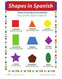 shapes in spanish worksheet education com