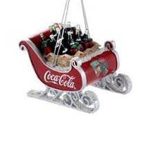 kurt adler ornaments coca cola resin sleigh with bottles cc2155 ebay