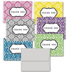 damask thank you note cards 36 thank you cards 6