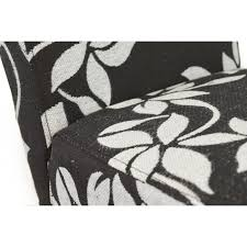 Occasional Dining Chairs New Black White Floral Fabric Upholstered Occasional Dining Chair